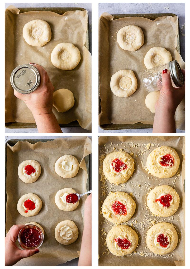 vatrushka buns process images
