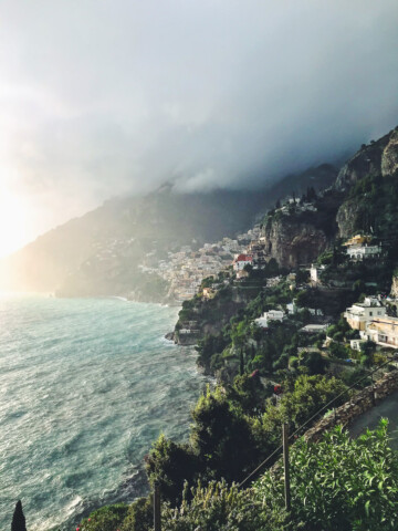 a view of Amalfi coast