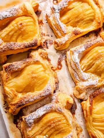 puff pastry pear tarts