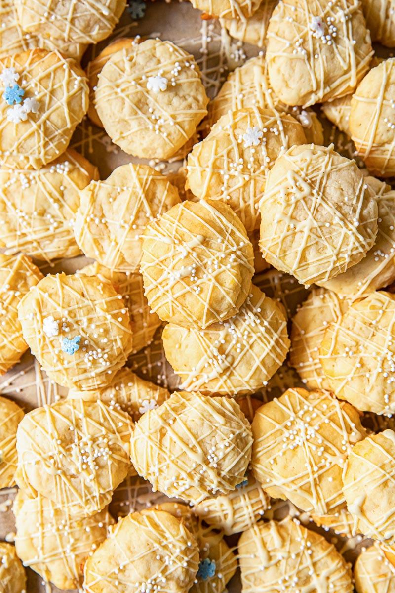 top down view of lemon ricotta cookies