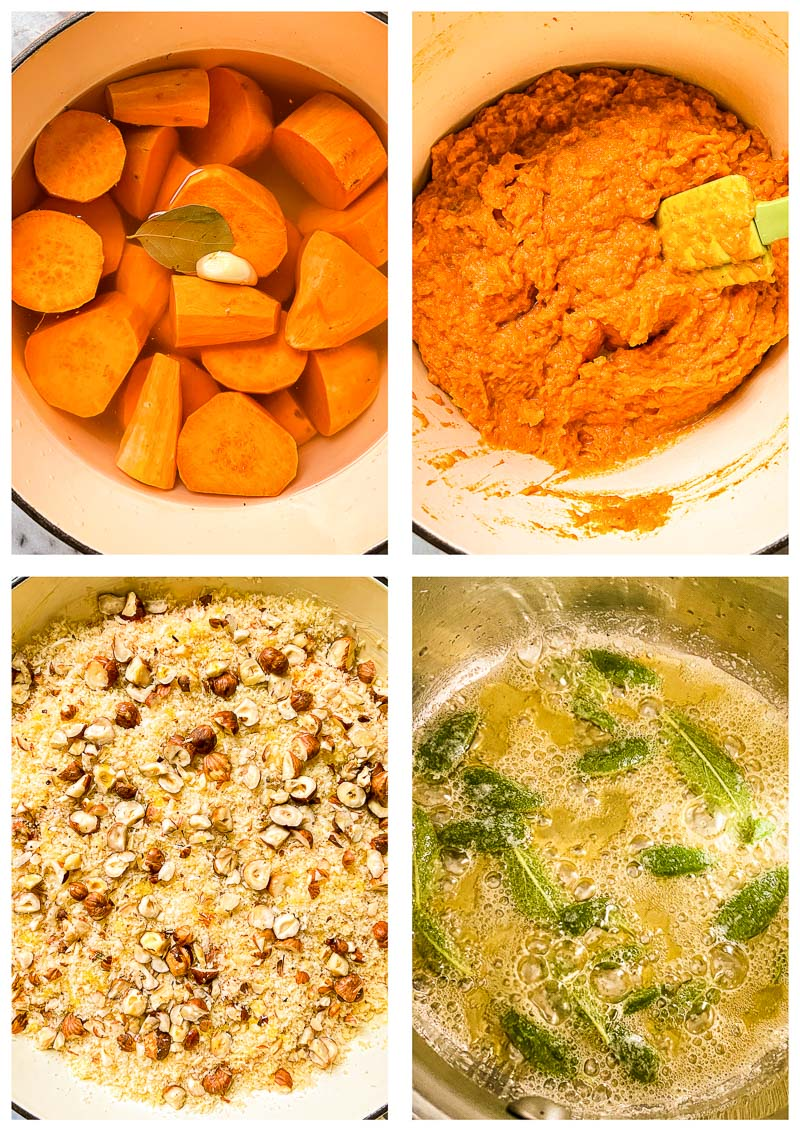 sweet potato casserole process images