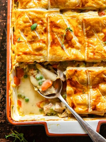 turkey pot pie with puff pastry crust