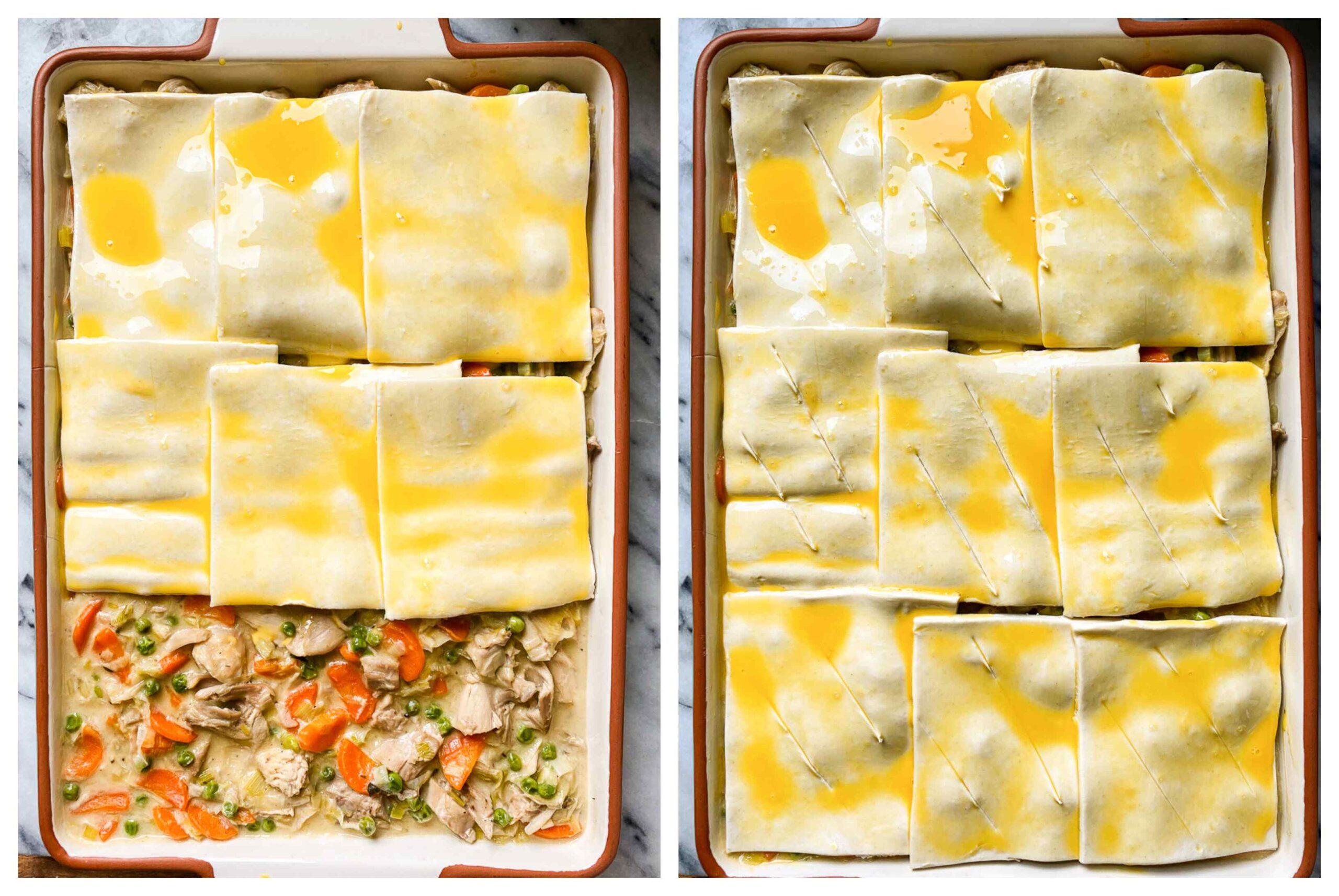 pot pie process images