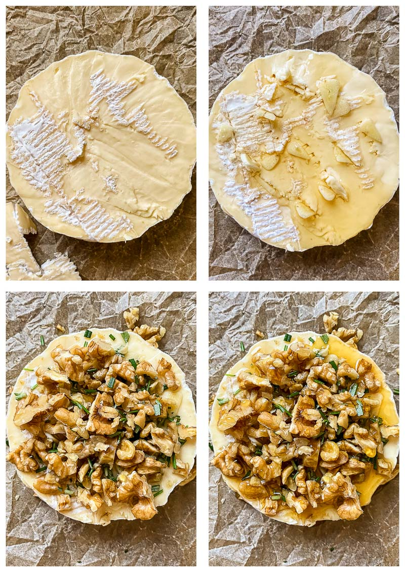baked brie process images