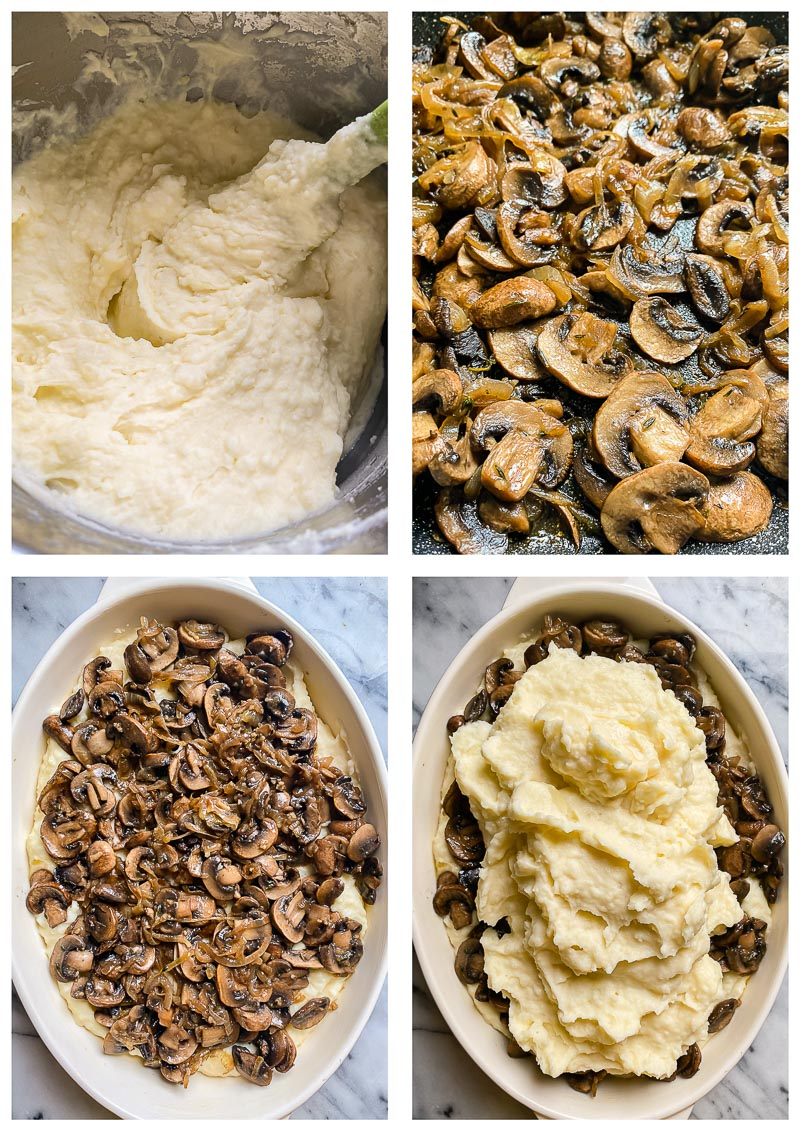 baked mashed potatoes process images