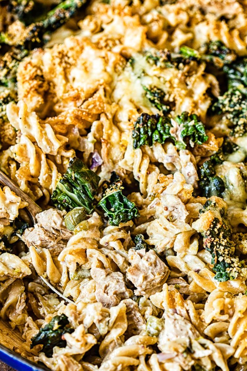 tuna noodle casserole with kale