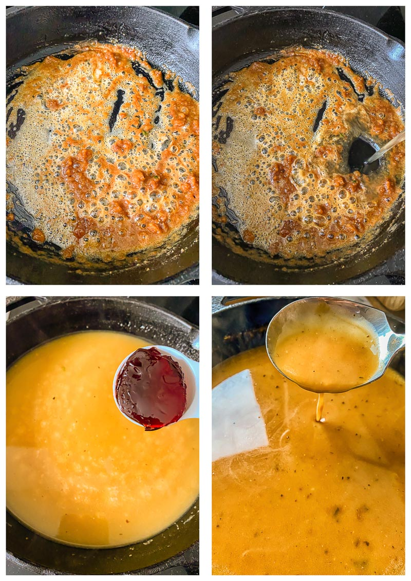 pork gravy process images