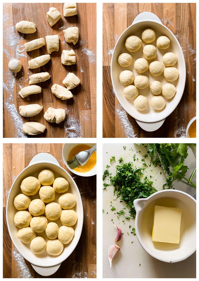 bread rolls process images