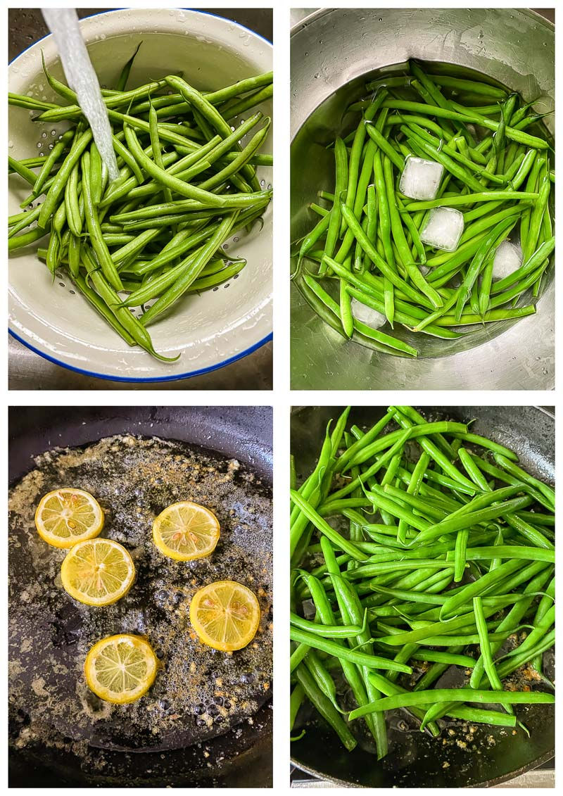 green bean recipe process images