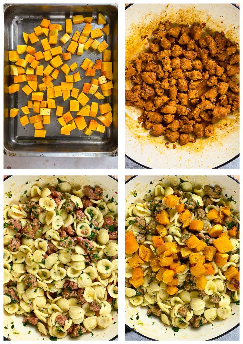 Orecchiette with Chorizo process images