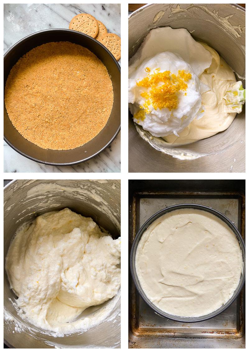 lemon cheesecake process images