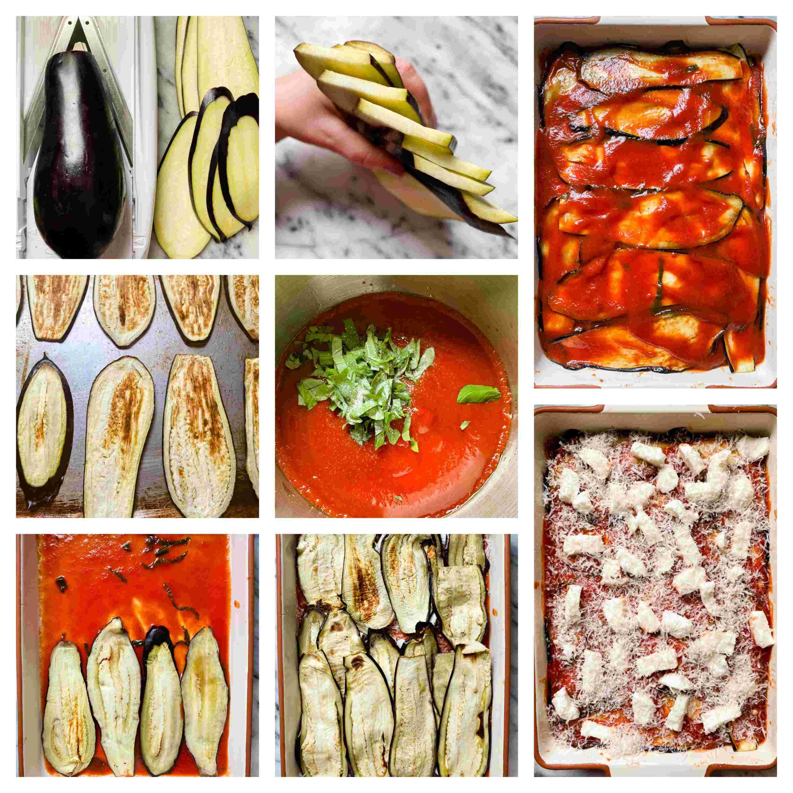 eggplant parmesan process images