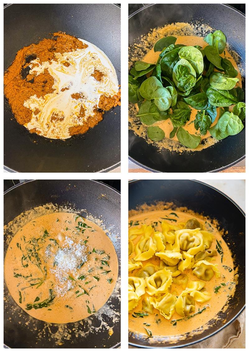 tortelloni sauce process images