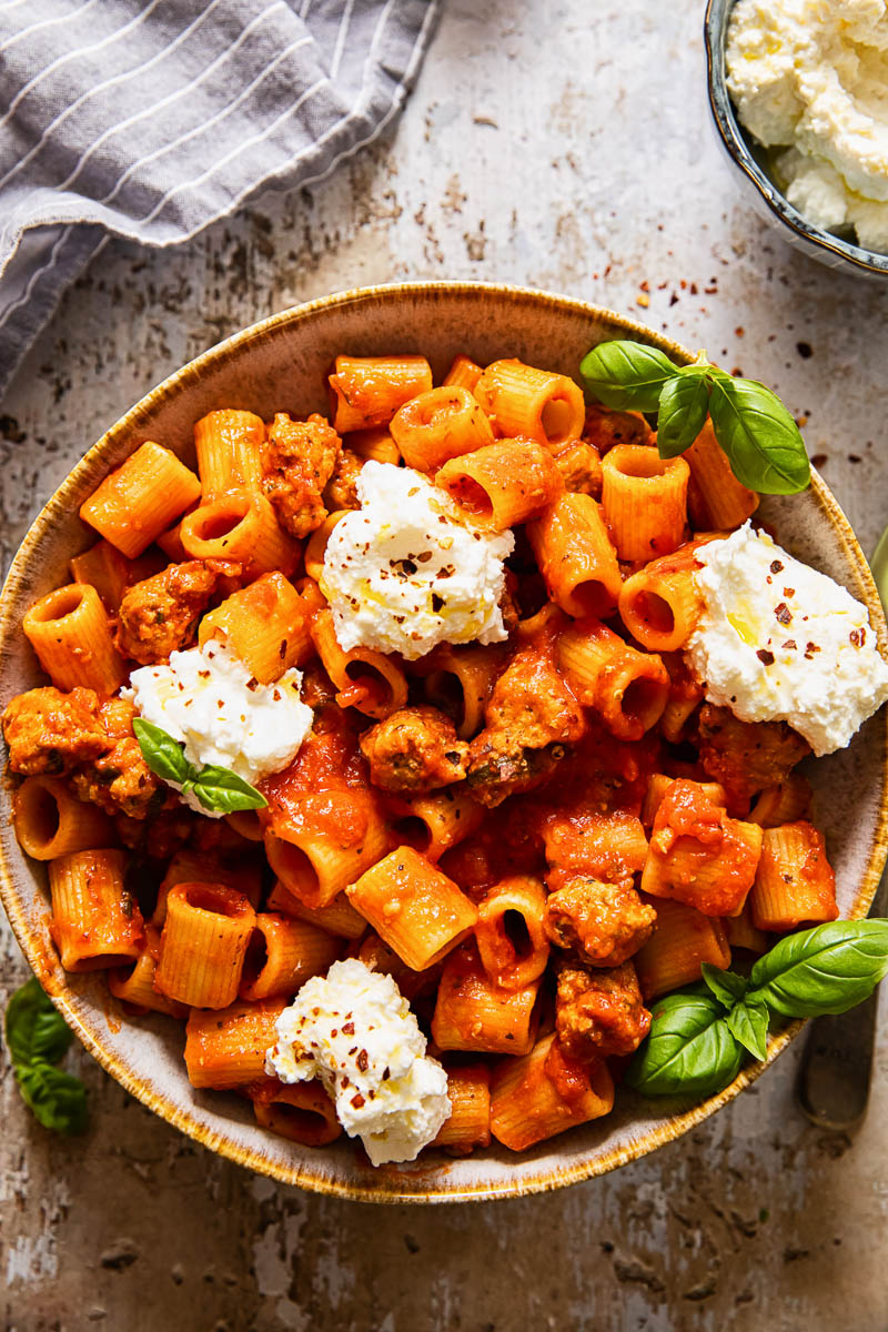 sausage and ricotta pasta
