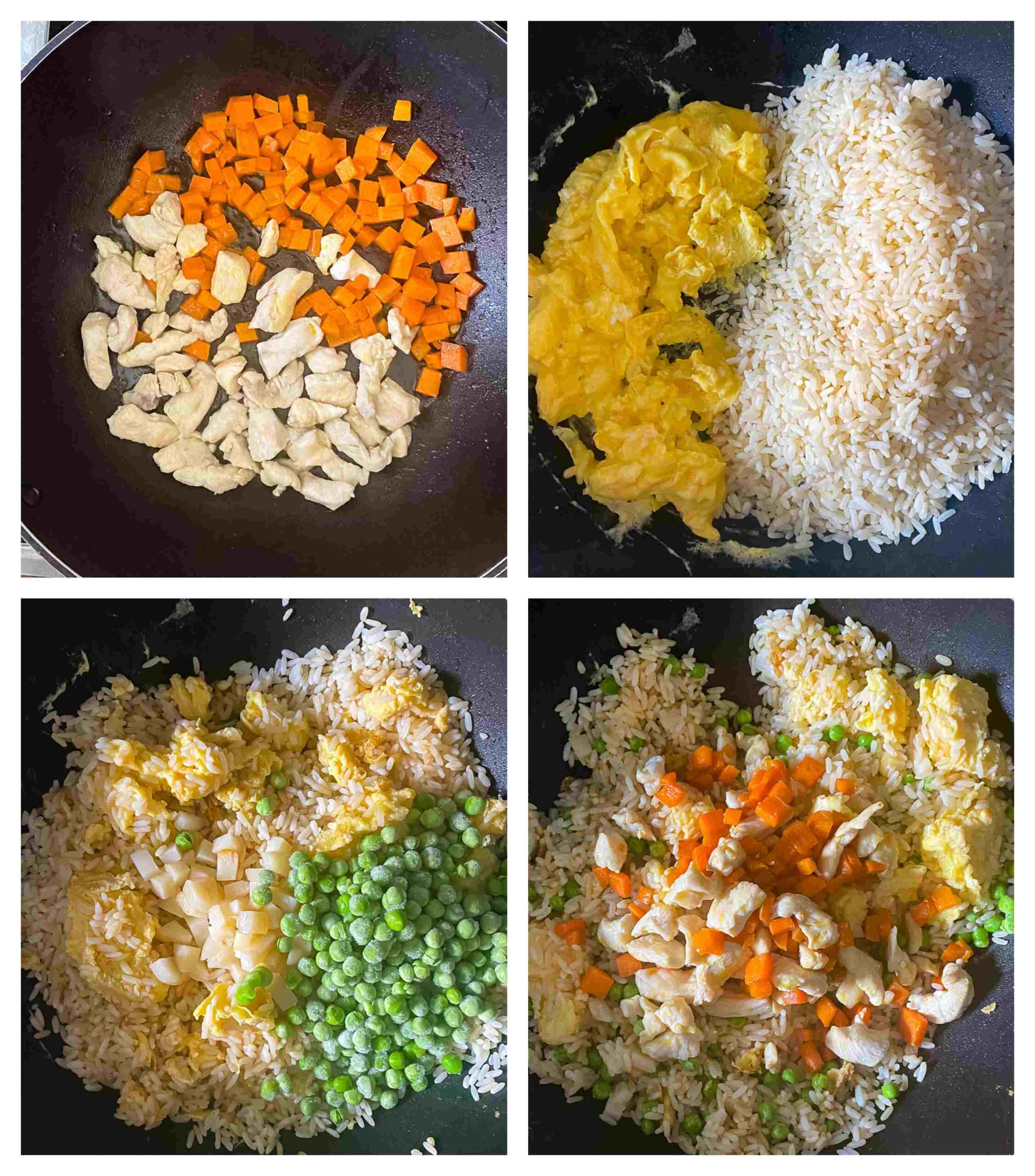 chicken fried rice process imafes