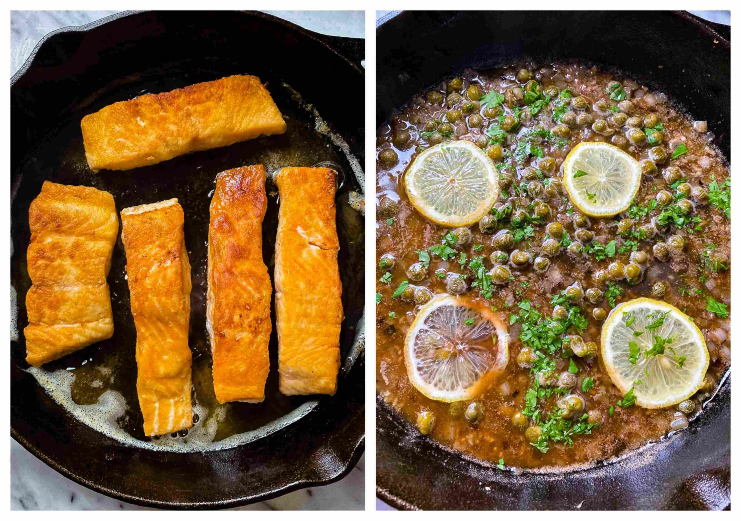 salmon piccata recipe process images for salmon and the sauce