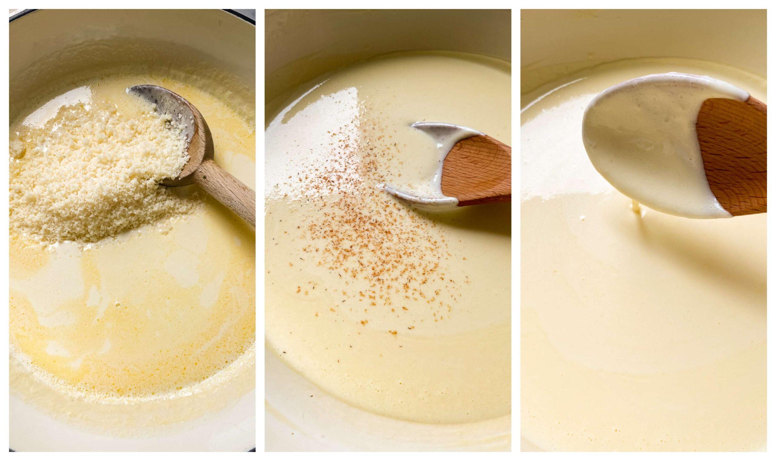 Alfredo sauce process images