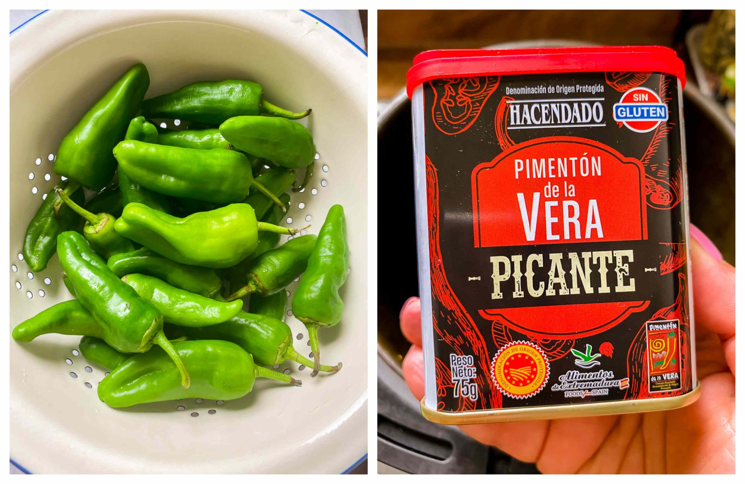 padron peppers and Spanish paprika
